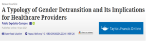 A Typology of Gender Detransition and Its Implications for Healthcare Providers
